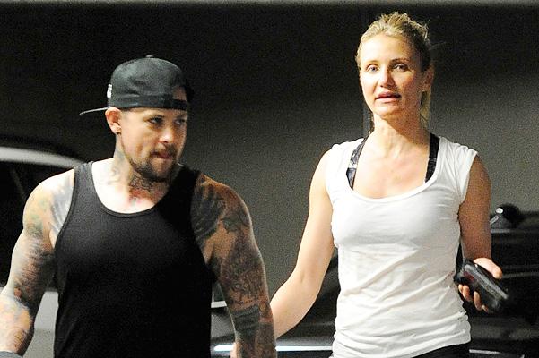 Cameron Diaz And Benji Madden Work Up A Sweat Together!